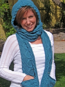 Diamond Hooded Scarf, Free Crochet Pattern