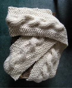 Jill's Chat: Reversible Cable Scarf Pattern
