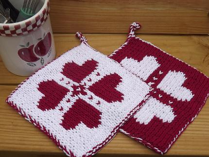 Knitted Potholder Pattern Double : LARUA S KNITTING PATTERNS FREE 1000 Free Patterns