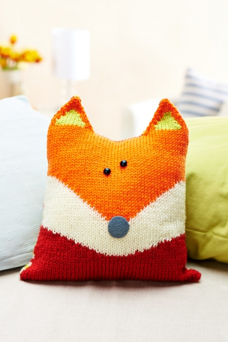 Knit a Sweet Pillow Shaped Like a Fox   Knitting