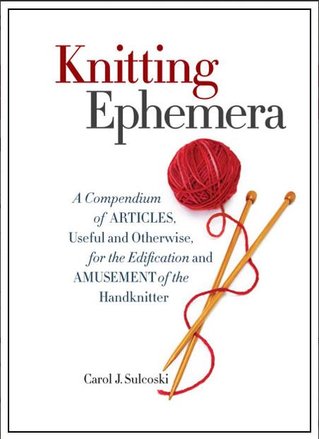 Knitting History Trivia : Giveaway knitting ephemera